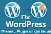 fix your WordPress issues, WordPress errors