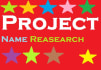 research project name for you