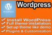 wordpress  Install and Setup WordPress