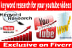do keyword Research for your videos
