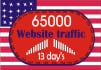 drive USA tergated traffic,website