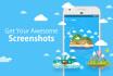 make Beautiful App screenshots for App store and Google Play