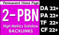 do 02 High Trust Flow PBN Home Page Backlinks