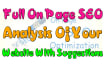do full On Page SEO analysis of your website with suggestion