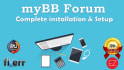 install myBB forum and setup it completely