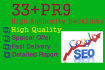 manually Create 33 backlinks from high PR9 sites