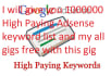 give you 1000000 high paying adsense keyword list