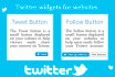 create twitter widgets for your website