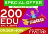 100, Premium, Edu, Backlinks, for SEO, Google Ranking,