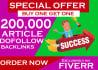 100,000 Gsa, Ser, High, Quality Backlinks, for SEO,