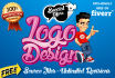 design 3 awesome and professional logo in 24hrs with free source files