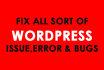 fix wordpress, woocommerce, php and css errors