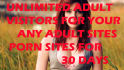 deliver Unlimited visitors your adult websites for 30 Days