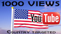 1000 Country Targeted Views YouTube