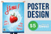 design an amazing and CATCHY poster