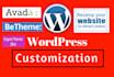 customize wordpress website, redesign revamp WordPress
