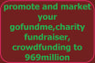 promote and market your gofundme,charity fundraiser,crowdfunding to 969million