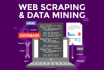 do web scraping, web harvesting, data mining and data extraction
