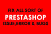 fix Prestashop Modules, Addons and Extension Errors