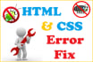 fix your html, css, wordpress, php bugs