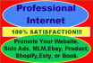 promote Your Website,Solo Ads, MLM,Ebay, Product, Shopify,Esty, Or Book