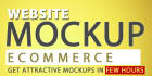 do attractive mockups and Ecommerce Mockups in Few Hours
