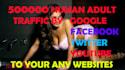 deliver 100000 visitors your adult websites or links