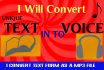 convert Your Text File in to MP3