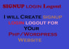 create a awesome signup,login,logout from