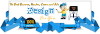 design a Professional web banner,header,ad and cover