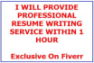 provide RESUME writing service