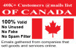deliver 40K customers email list of Canada