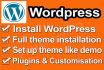 install and setup wordpress theme like demo in 24 hours