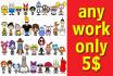 make eye catching cartoon characters