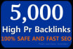 provide 5000 SEO Backlinks, to Website Improving