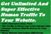 send Unlimited And SUPER Effective Human Traffic To Your Website