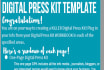 give you a customizable 1 page Digital Press Kit template