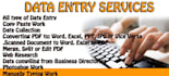 do data entry, word, pdf, typing work
