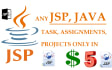 code in Java, JSP, Servlets for you