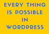 develop awesome Websites in Word Press