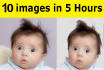 remove photo background of 10 photos in just 5 hours