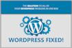 fix wordpress issues wordpress errors