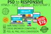 convert PSD to Responsive HTML5 CSS3 using Bootstrap 3