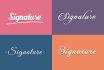 do elegant SIGNATURE logo