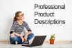 write a professional product description