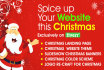 apply Christmas style to your existing website for Christmas