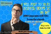 post To 50 FB Business Groups 3x On Day