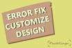 customize wordpress fix wp error edit theme template or css