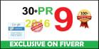 skyrocket your SEO Google Rankings with more 32 high PR9 safe backlinks