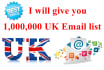 give you 1M UK Email lists